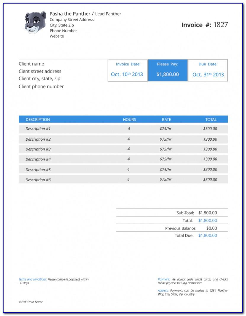 Investment Receipt Template