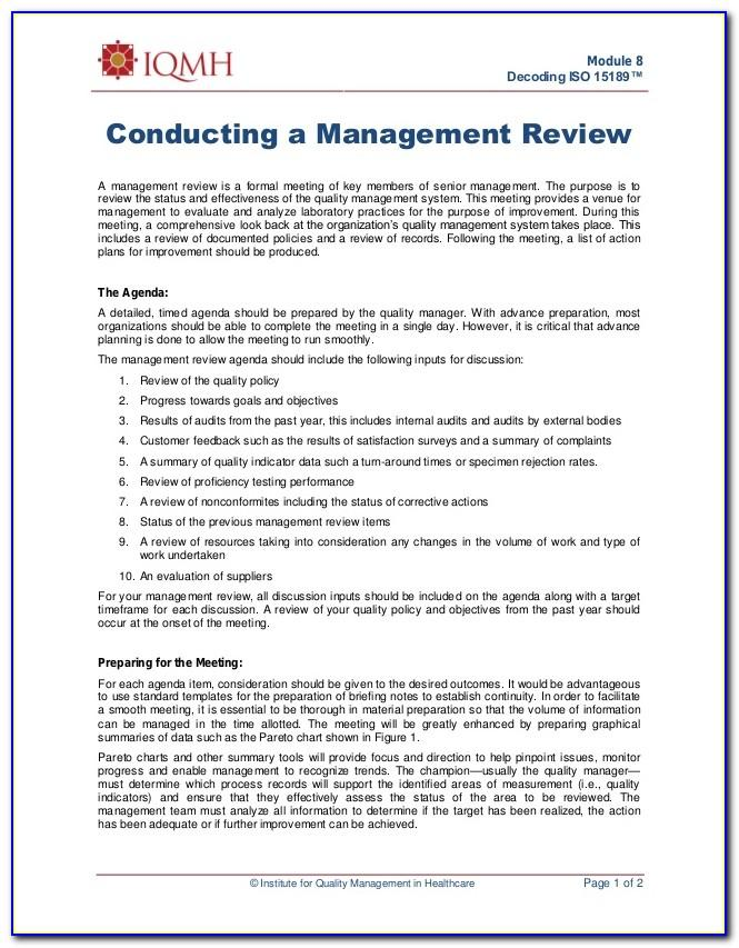 Iso 22000 Management Review Template