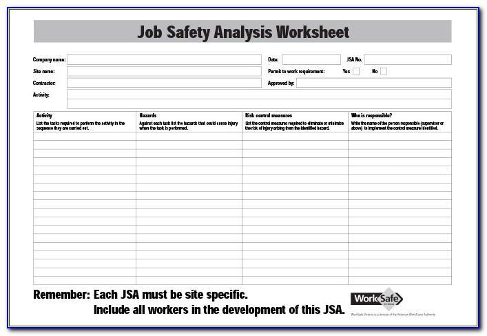 Job Safety Analysis Template Free