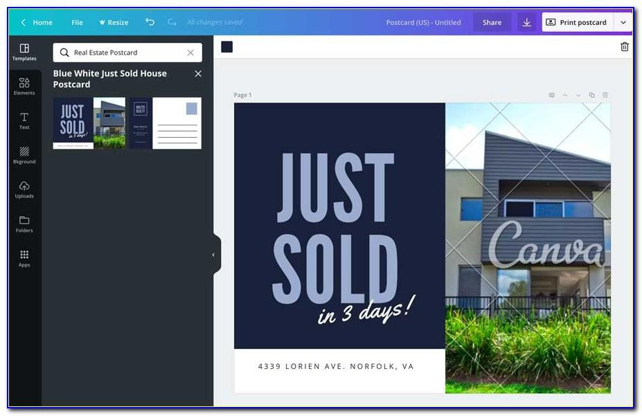 Just Sold Postcard Templates Free