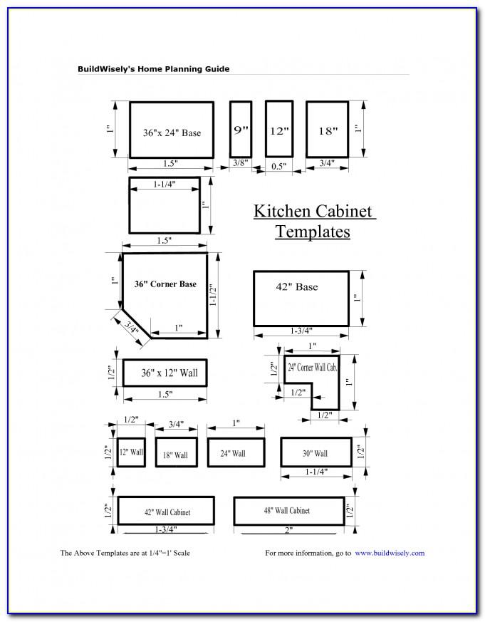 Kitchen Cabinet Layout Template
