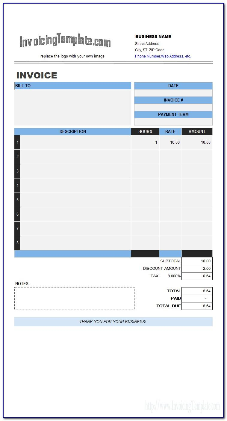 Labour Invoice Template Word