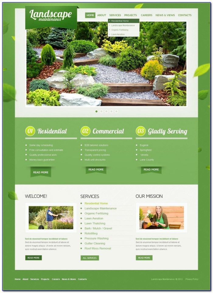 Landscaping Website Templates Free
