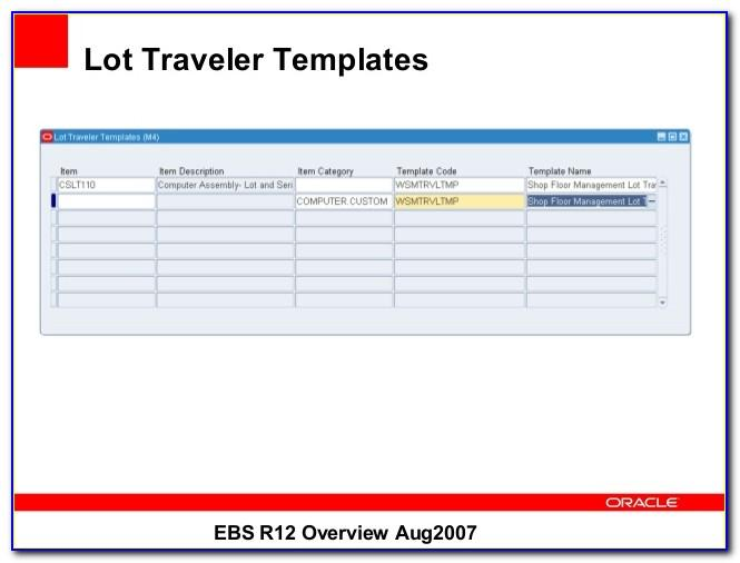 Manufacturing Work Order Traveler Template