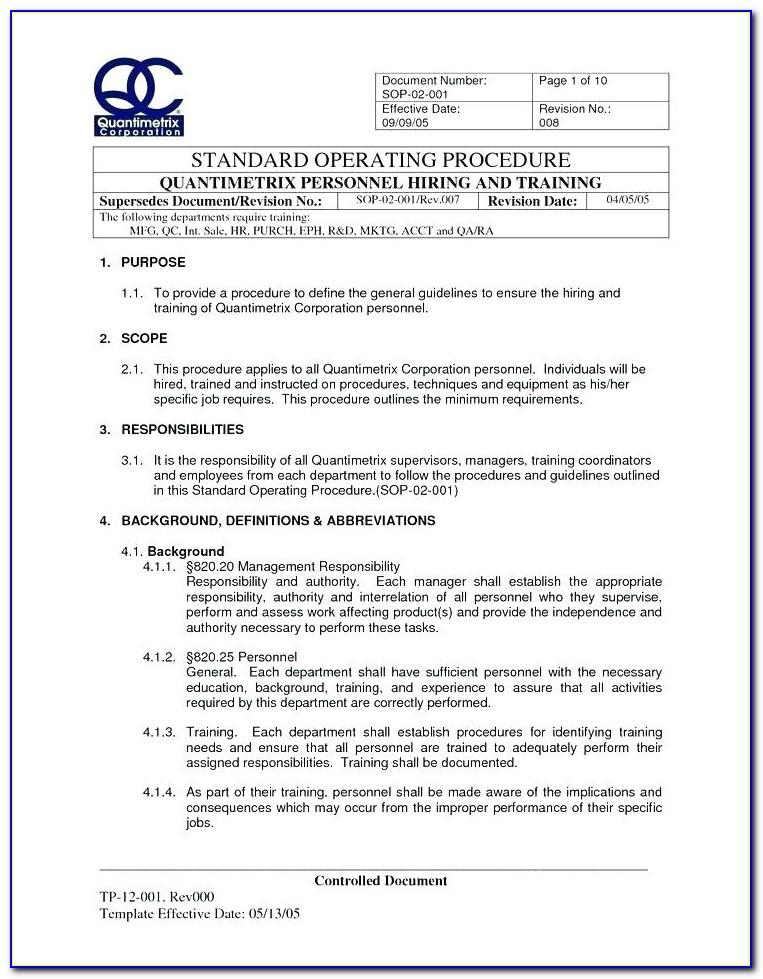 Medical Office Operations Manual Template