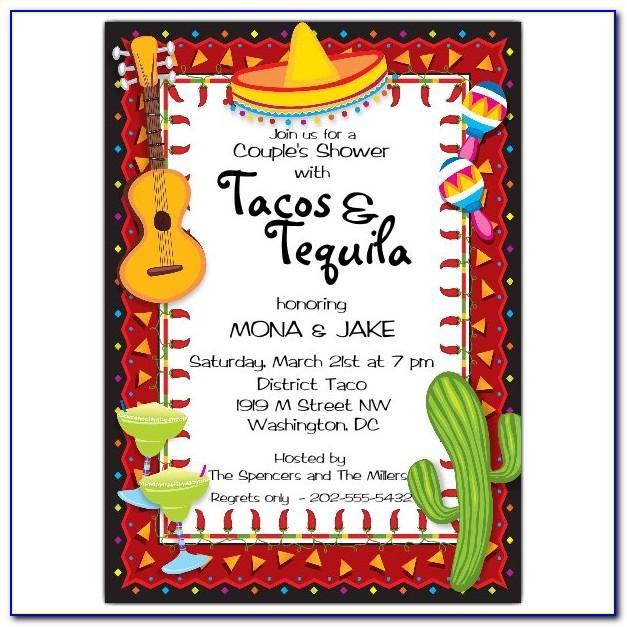 Mexican Birthday Invitation Template Free
