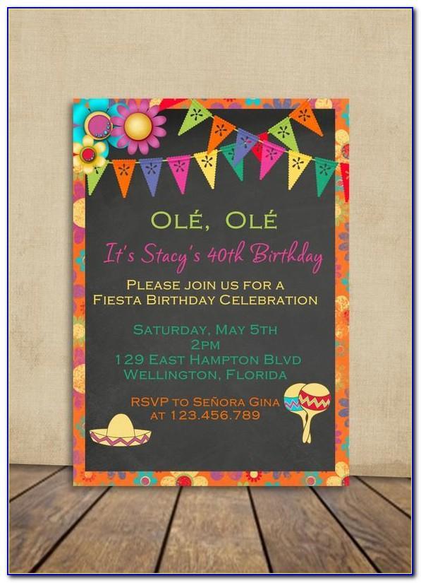 Mexican Birthday Invitations Templates