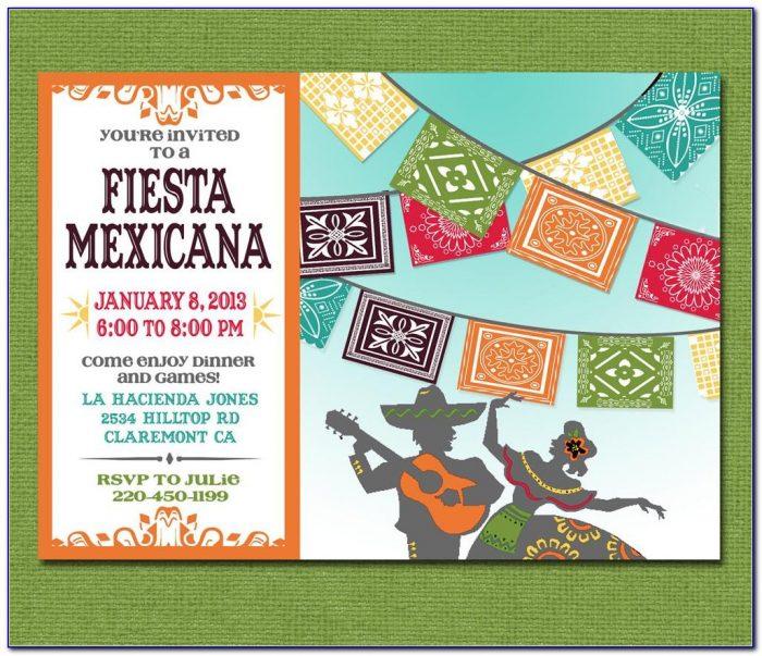 Mexican Fiesta Birthday Invitation Templates
