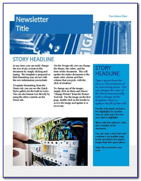 Microsoft Office 365 Newsletter Template