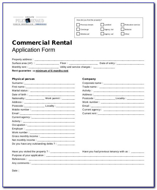 Microsoft Office Rental Application Template