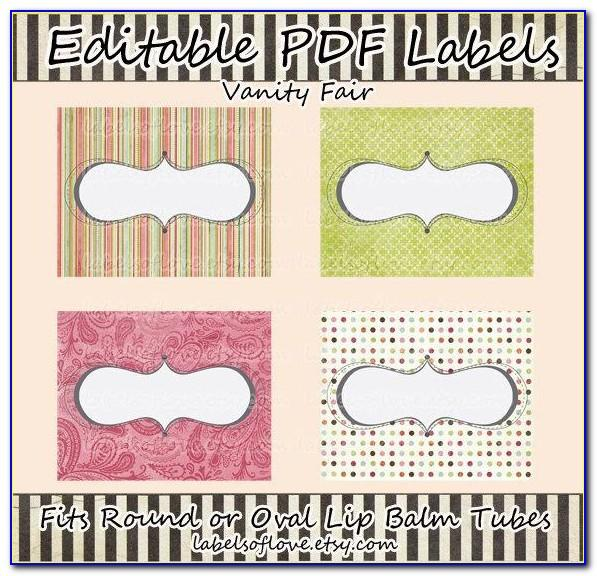 Milliard Lip Balm Tube Blank Labels Template