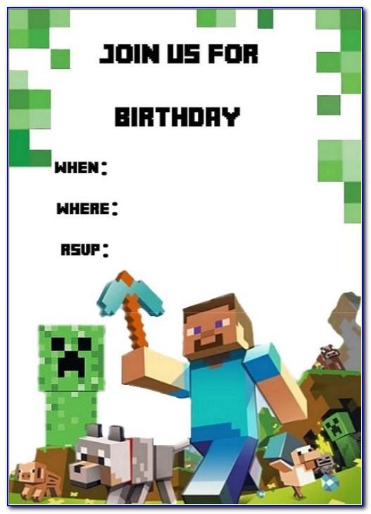 Minecraft Invitations Template Free
