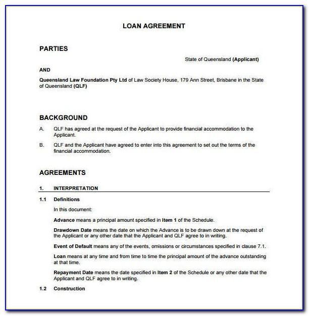 Money Borrowing Agreement Template