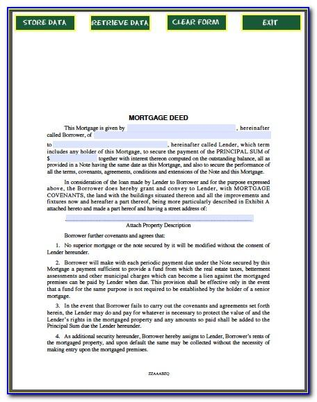 Mortgage Deed Document