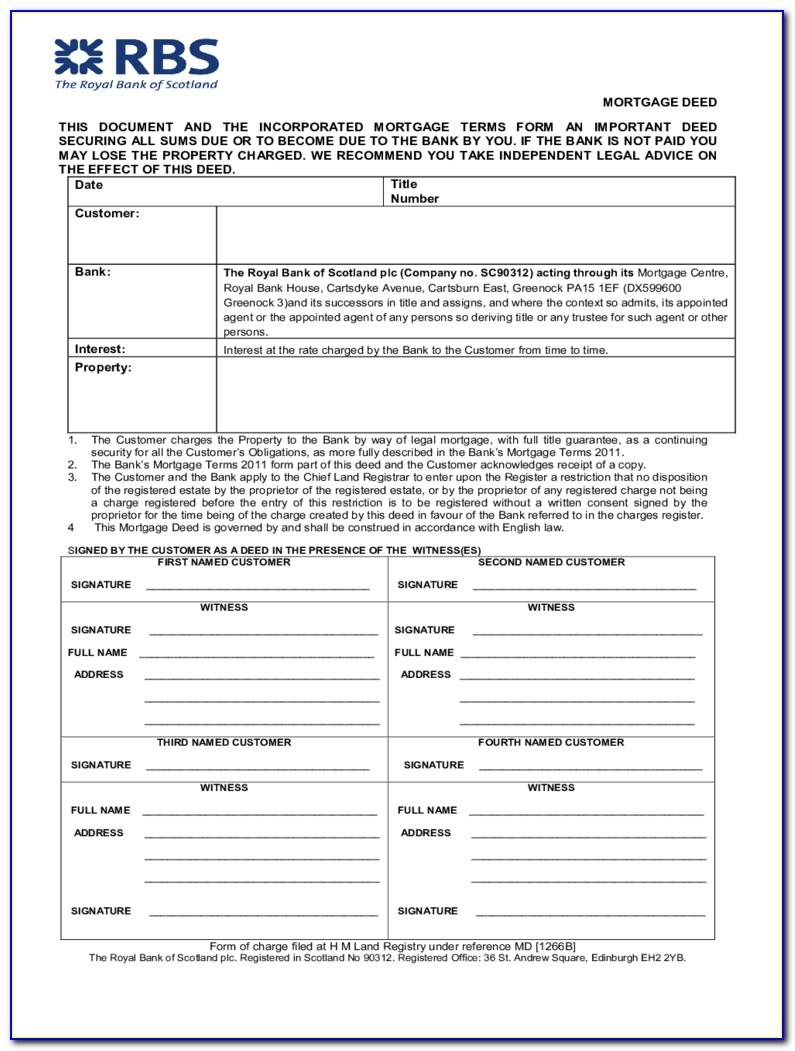 Mortgage Deed Template Uk