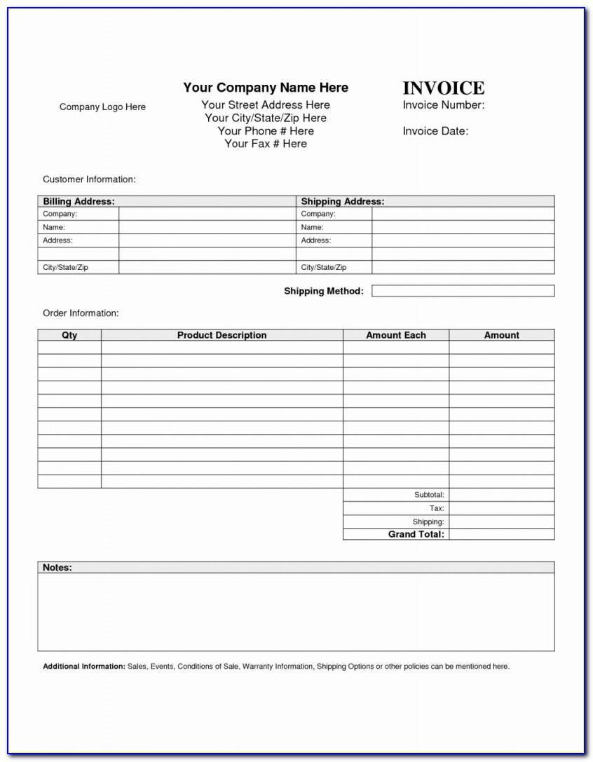 Mortgage Payment Invoice Template