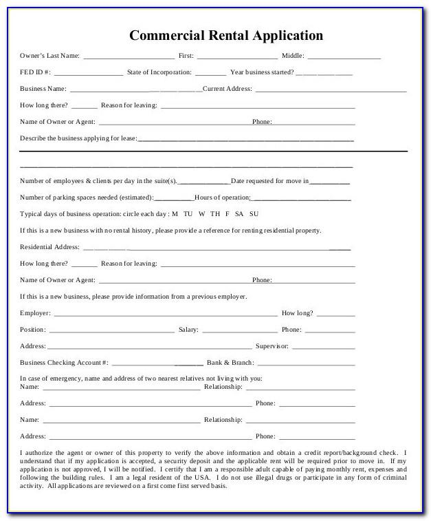 Office Rental Application Template