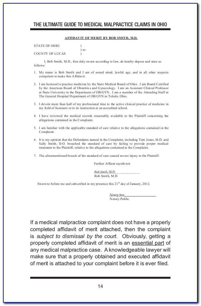 Ohio Affidavit Template
