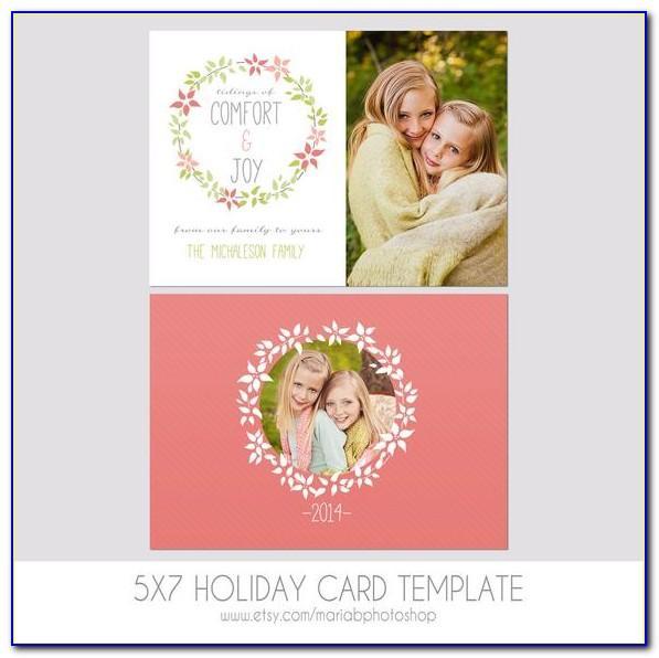 Photoshop 5x7 Christmas Card Templates