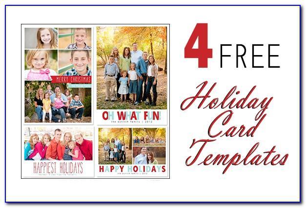 Photoshop Christmas Card Template Free