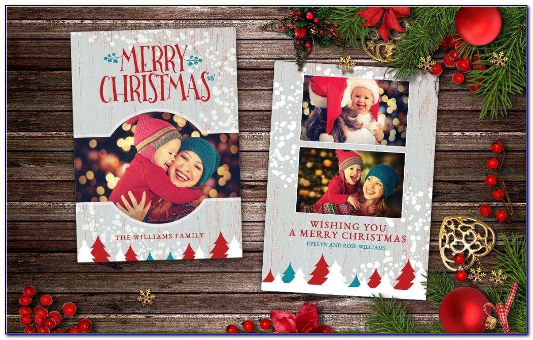 Photoshop Christmas Card Templates Funny