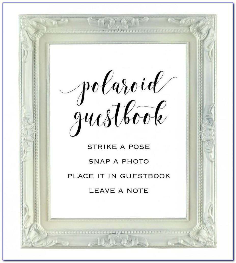 Polaroid Guest Book Template Free