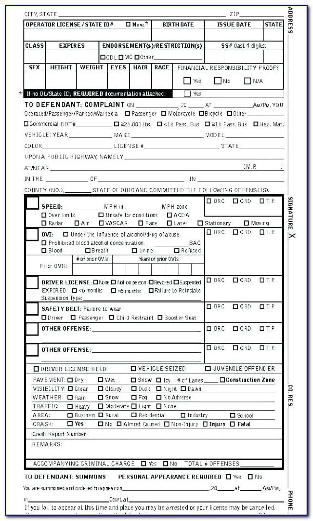 Pretend Police Ticket Template