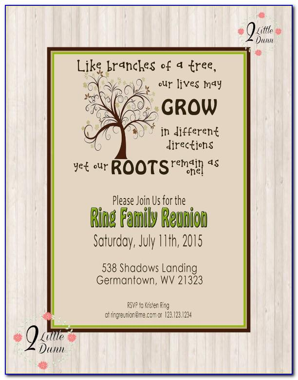 Printable Family Reunion Invitations Templates