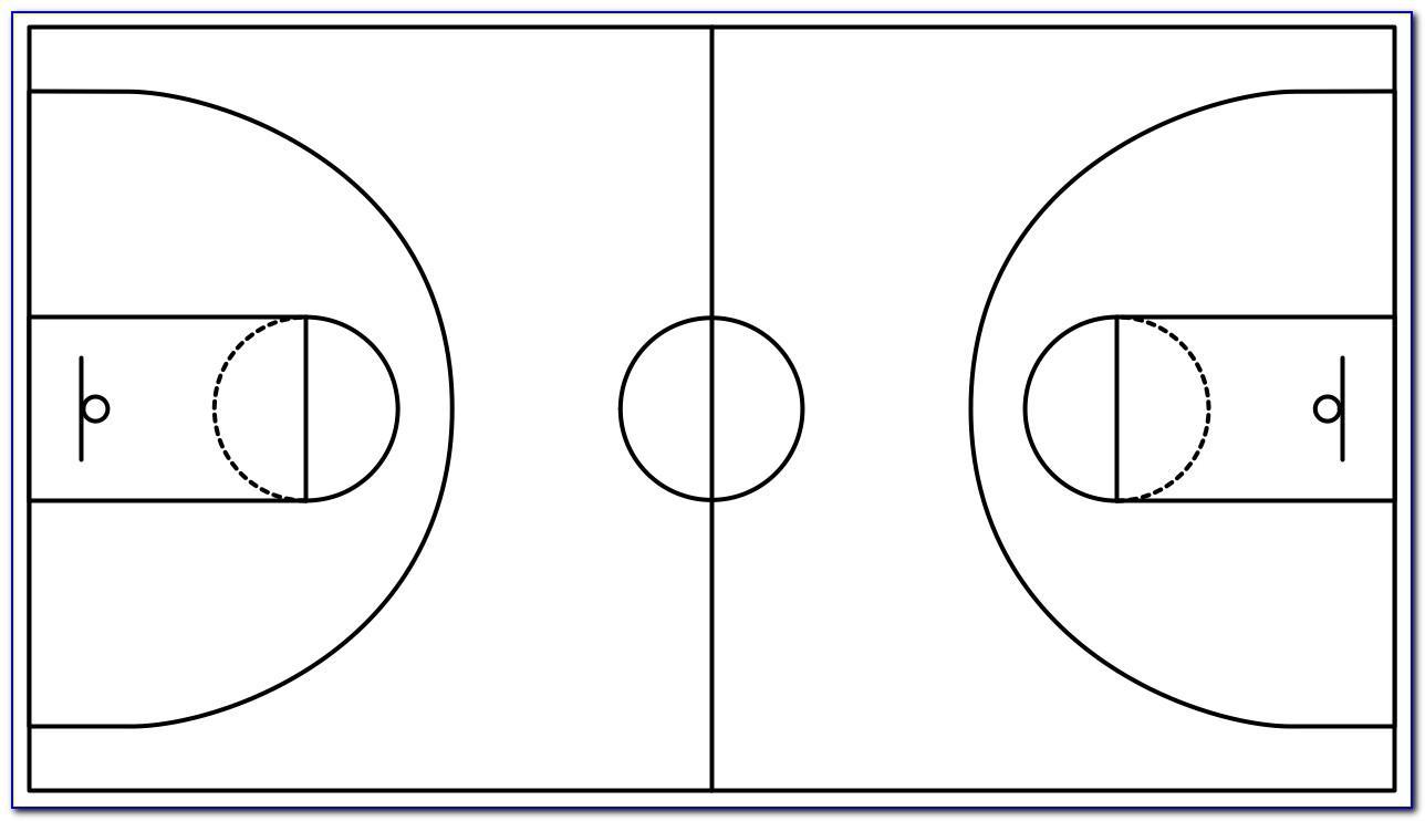 Printable Half Court Basketball Templates