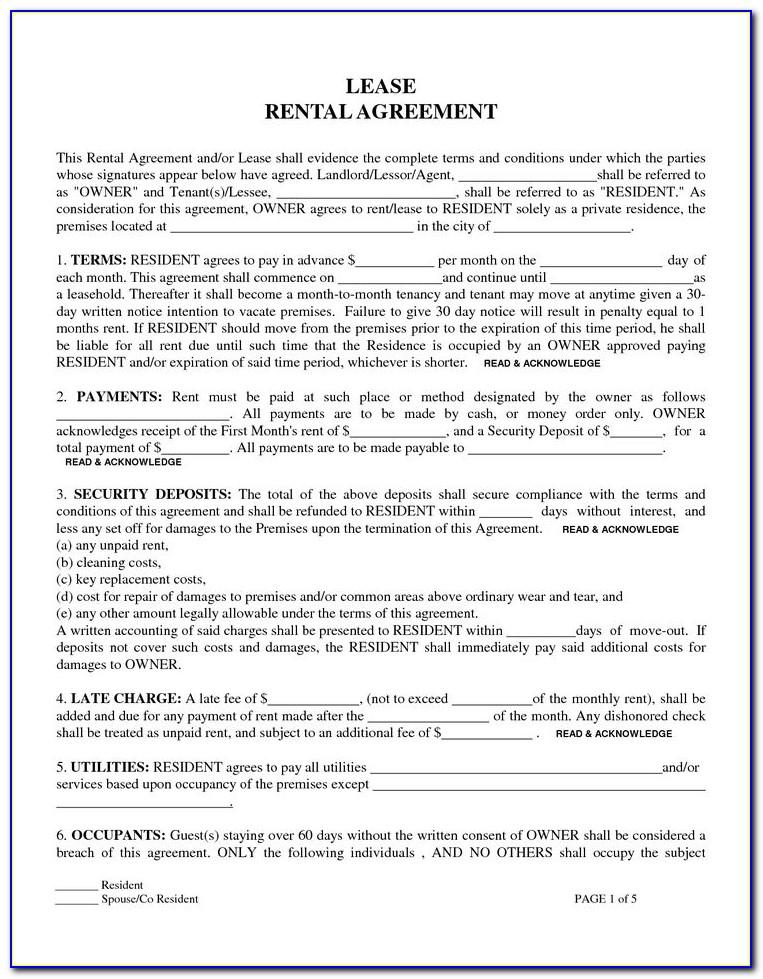 Printable Lease Contracts