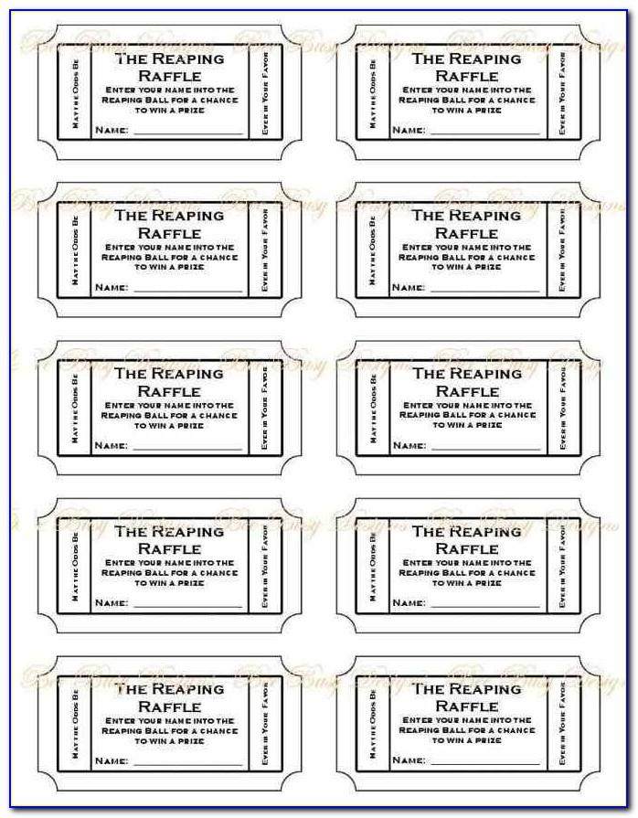 Printable Raffle Tickets Template Free