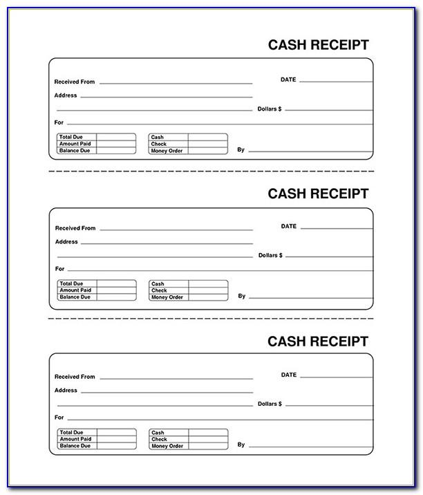 Printable Receipt Book Template
