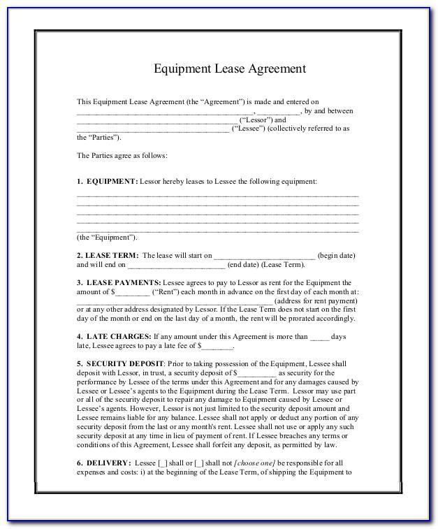Printable Rental Lease Template
