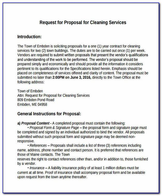 Proposal For Cleaning Services Template