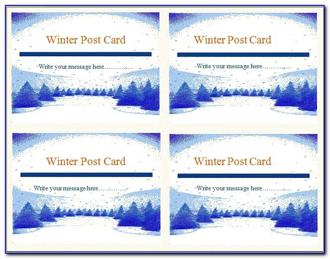 Publisher Templates For Postcards