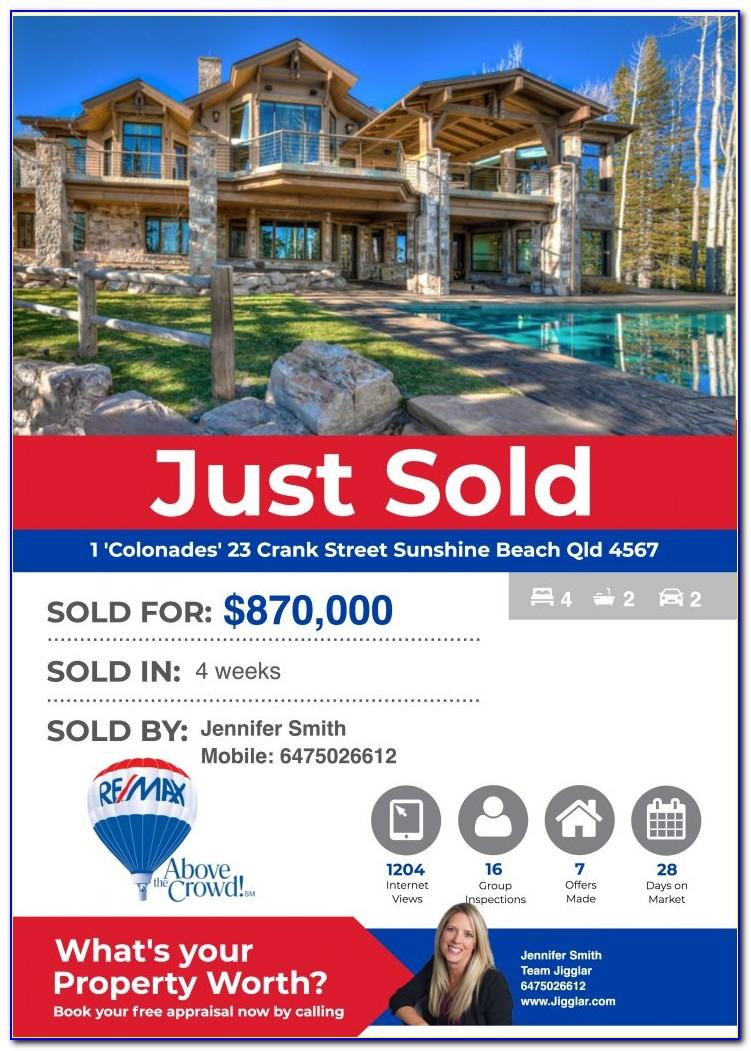 Real Estate Just Sold Flyer Templates