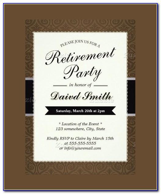Retirement Party Announcement Template