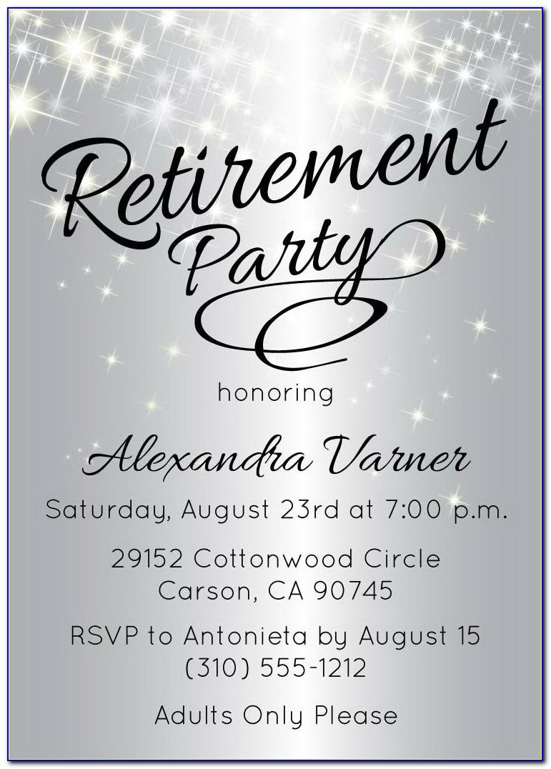 Retirement Reception Invitation Templates