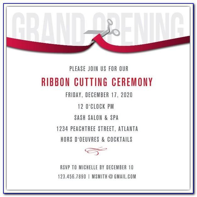 Ribbon Cutting Ceremony Invitation Template Free