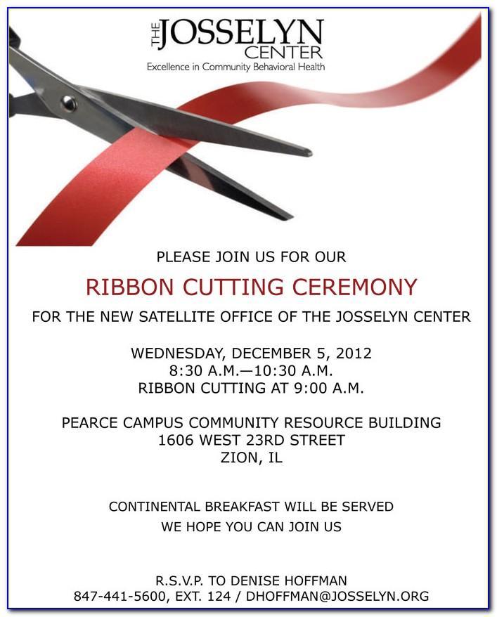 Ribbon Cutting Ceremony Invitation Wording