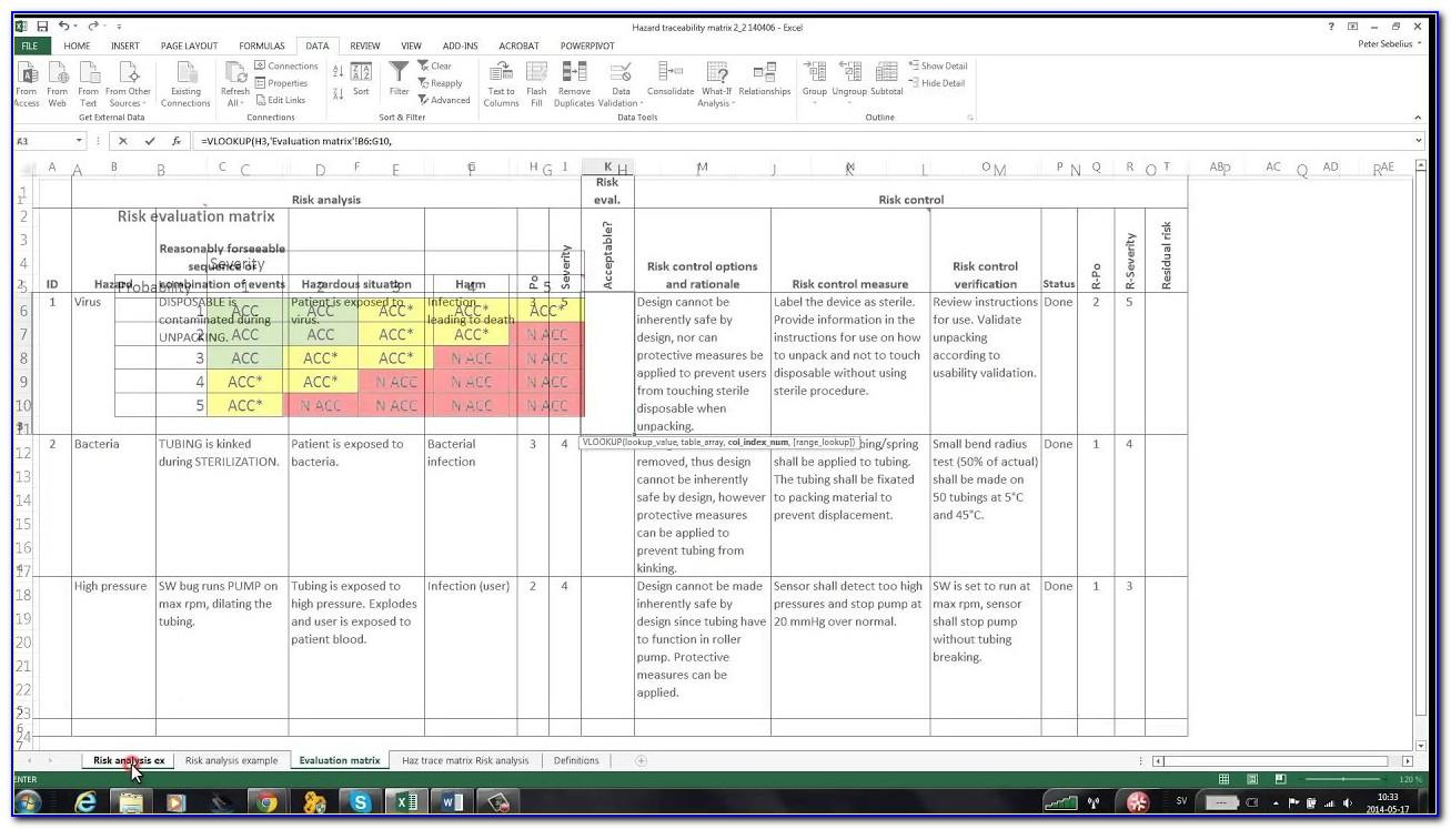 Risk Management Plan Template (medical Device And Iso 14971)