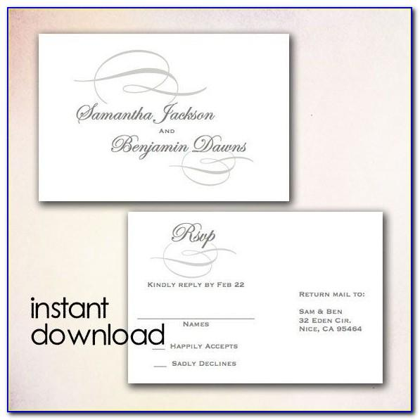 Rsvp Wedding Email Template