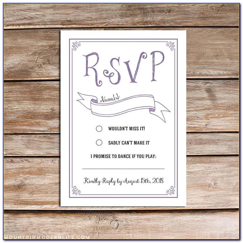 Rsvp Wedding Template Free