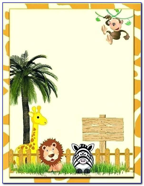 Safari Themed Birthday Invitation Template