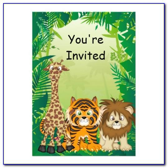 Safari Themed Invitation Template Free