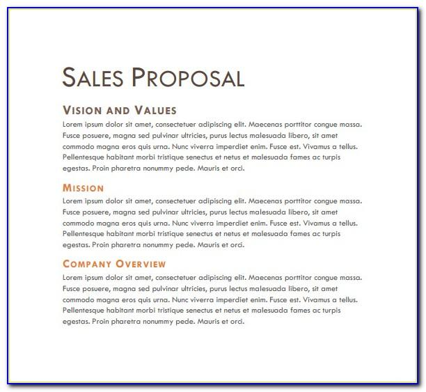 Sales Proposals Examples