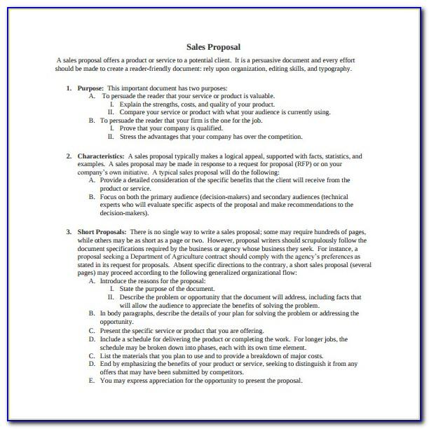 Sales Proposals Samples