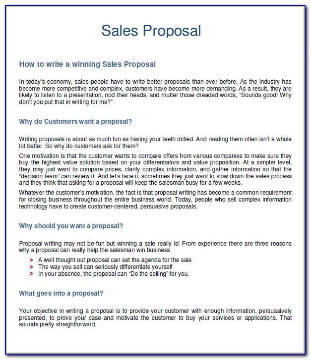 Sales Proposals Templates