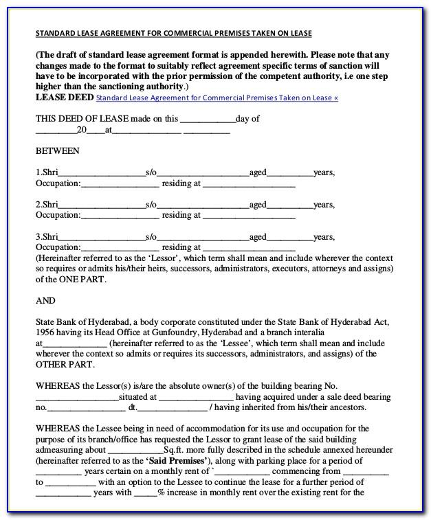 Sample Commercial Lease Agreement Pdf
