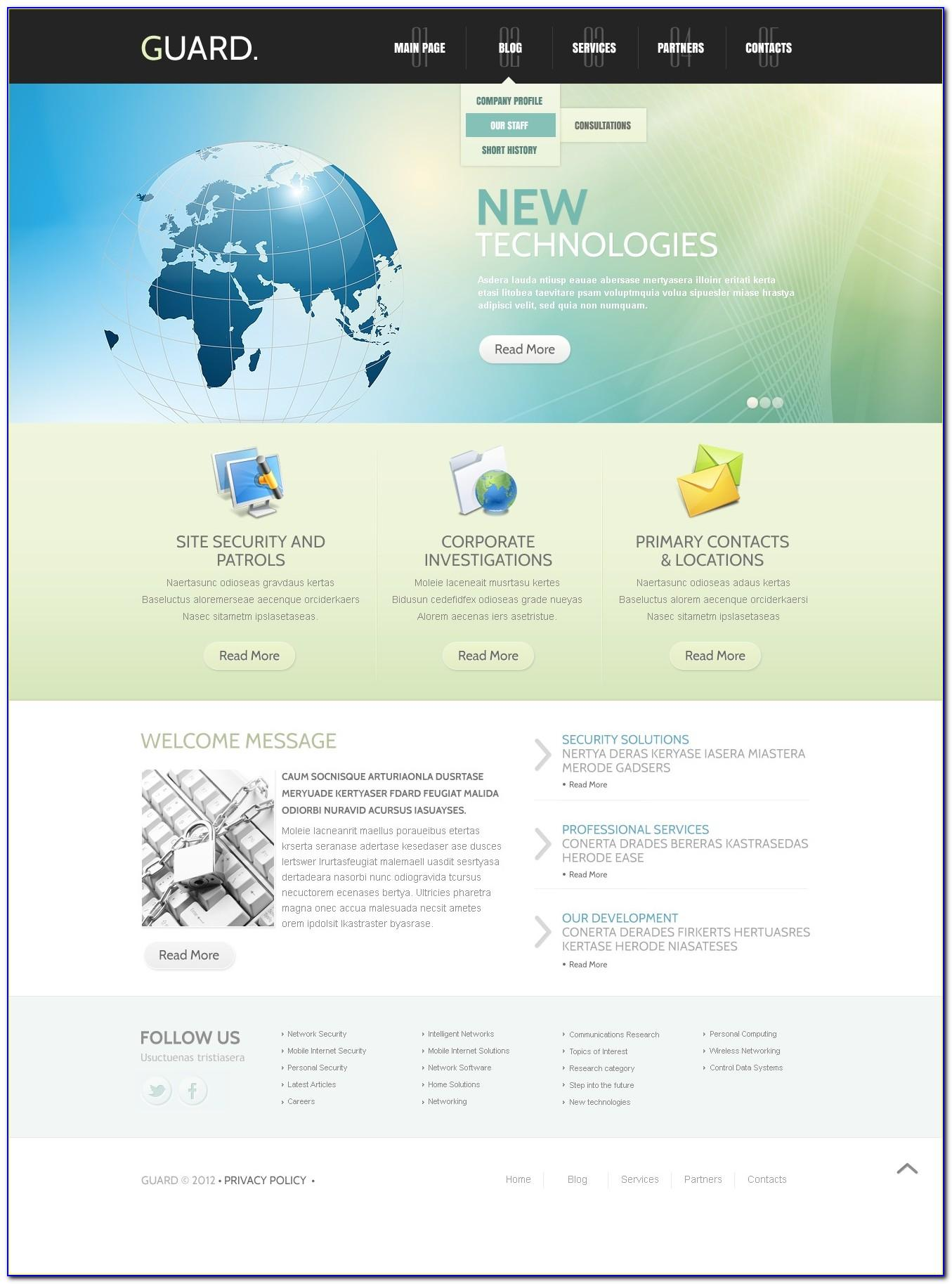 Security Guard Agency Website Html Templates Free Download